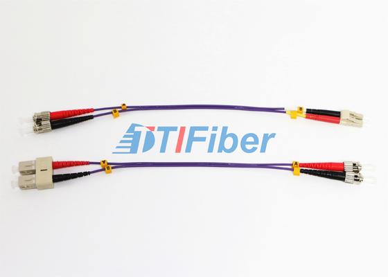 Cordón de remiendo de la fibra óptica del ST UPC OM2 62,5 con el puente de la fibra óptica del cable óptico de ROHS