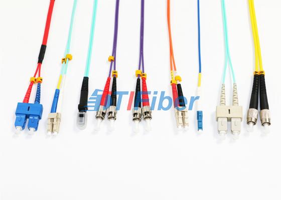 Cable de fribra óptica con varios modos de funcionamiento del cordón de remiendo del solo modo de MU MTRJ/duplex