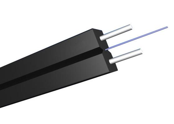 Cable de descenso plano unimodal interior de GJYXCH FTTH con la fibra óptica G657A2