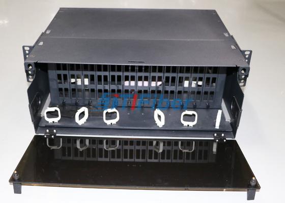el panel de remiendo desplazable de la fibra óptica 4U para módulo del casete de la fibra de MTP/de MPO