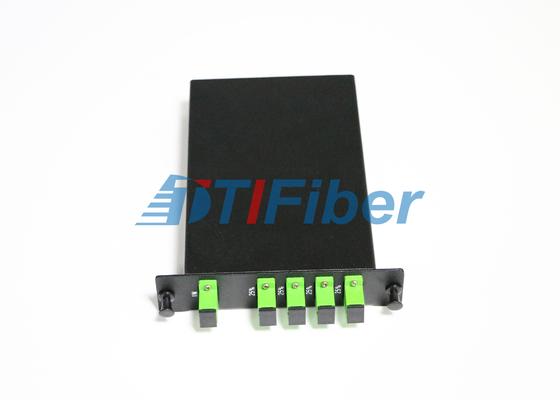 Caja del divisor de la fibra óptica del PLC de LGX con los adaptadores a una cara de la fibra óptica del SC APC